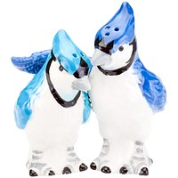 Blue Jays Snuggling Salt & Pepper Shakers