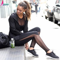 Gagaopt 2016 Fitness Leggings Women High Waist Patchwork Mesh Leggings Skinny Push Up Calzas Deportivas Mujer Fitness Legins