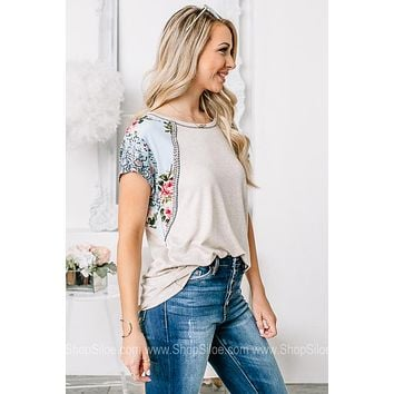 Seize The Day Print Detailed Top