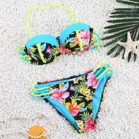 Floral Print Push Up Bikini B005874