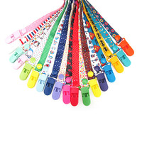 New Baby Pacifier Clip Chain Ribbon Holder Chupetas Soother Pacifier Clips Leash Strap Nipple Holder For Infant Feeding BNZ03