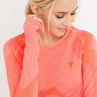 Y.A.S Sport Anatomy Long Sleeve Pink Top - Urban Outfitters
