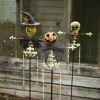 Set of 3 Halloween Yard Stakes- One Each Design