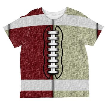 Fantasy Football Team Maroon and Gold All Over Toddler T Shirt
