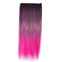 Beauty On Sale Hot Sale Hot Deal Sexy Gradient Clip Black Rose Red Ladies Straight Hair Wigs Hair Extensions [4923184452]