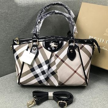 Burberry Women Fashion Leather Tote Satchel Crossbody Shoulder Bag