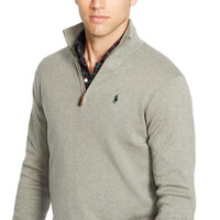 PIMA COTTON HALF-ZIP SWEATER