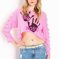 No More Shredded Crop Top - LoveCulture