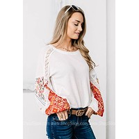 Blossom On Over Balloon Sleeve Top