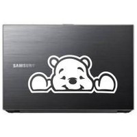 Pooh Bear Peeking (Style#2) Tablet Decal Sticker Laptop cover Macbook Pro Apple Wall Design Decal Keyboard Design Decal Sticker Vinyl Decal