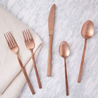 Copper Flatware, 5 Piece Set