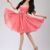 Lovely Bowknot A-line Sweetheart Mini Graduation Dress  from SinoSpecial