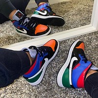 "Air Jordan 1 Mid ""Multi Patent"" sneakers basketball shoes"