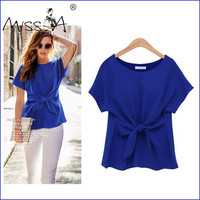 Butterfly 3-color Short Sleeve Women's Fashion Tops T-shirts [11545810575]