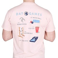 Day Games Tee in Spike the Punch Pink by Southern Proper