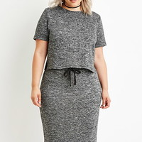 Plus Size Marled Knit Top