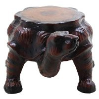 Mothers Day Gifts Distinctive Wooden Turtle Figurine Ottoman Stool Handcrafted Sturdy Nursery Kids Room Furniture