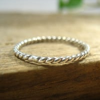 Stacking Ring Silver Twist 16