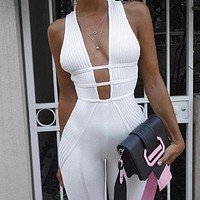 Knitted Bodycon Jumpsuit