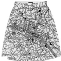 Vintage Map of Paris (1911) created by Bravura Media   Print All Over Me