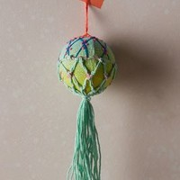 Embroidered Air Balloon Ornament by Anthropologie
