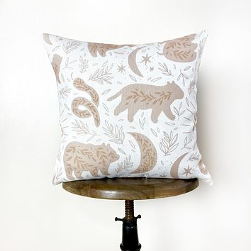 Magical Animal Repeat Pattern | Throw Pillow Cover  | Baby Nursery Decor | Baby Shower Decorations | Nursery Pillow | Gift Ideas