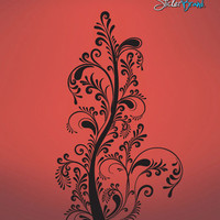 Vinyl Wall Decal Sticker Swirl Tree #509