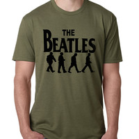 2017 Summer Men Famous Band T-shirt Rock And Roll Cotton Tops The Beatles Print Tee Shirt Male Casual Funny Brand Drake Clothing