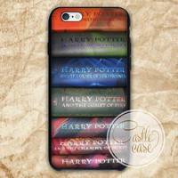 Harry Potter Collection Book iPhone 4/4S, 5/5S, 5C Series, Samsung Galaxy S3, Samsung Galaxy S4, Samsung Galaxy S5 - Hard Plastic, Rubber Case