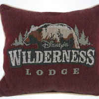 Disney Parks Wilderness Lodge Bear Throw Pillow New with Tags