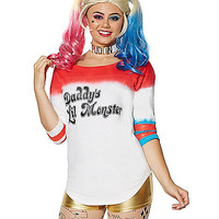 Daddys Lil Monster Varsity Top- Suicide Squad - Spirithalloween.com