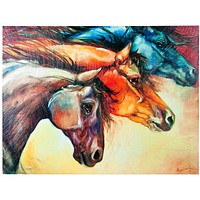 Horses Powerful Canvas Wall Art