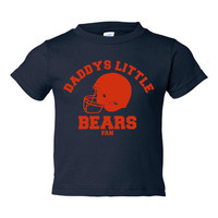 Daddys Little Bears Fan Great Chicago Football Infant Toddler Youth T Shirt Personalize It Great Gift Any Occasion Sizes 6 Mos To Youth XL