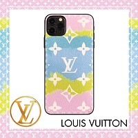 Onewel LV Case Louis Vuitton Clouds Gradient Colorful Monogram iphone shell iPhone 6 s 7 s 8 XS XR 11 Pro Max optional Sky blue pink