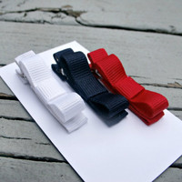 Tuxedo Baby Clips ... Hair Clips ... Red, White and Blue Clips ... Clip Set