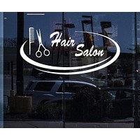 Window and Wall Stickers Vinyl Decal Hair Salon Barbershop Beauty Salon Unique Gift (z1869w)