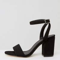 ASOS HERON Wide Fit Heeled Sandals at asos.com
