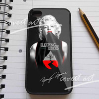 marilyn monroe love sleeping with sirens iPhone 4 / 4S / 5 /5c /5s Case Samsung Galaxy S3 / S4 Case