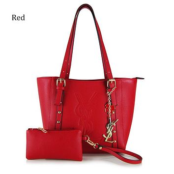 YSL 2018 new women's fashion shoulder bag Messenger bag tote bag two-piece Red