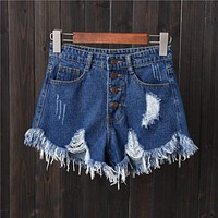 Sexy Plus Size Jeans Mini Denim Shorts