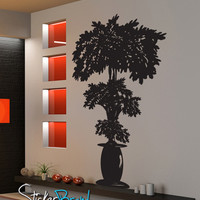 Vinyl Wall Decal Sticker Planted Potted Plant Tree  #GFoster160