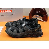 prada men fashion boots fashionable casual leather breathable sneakers running shoes 25