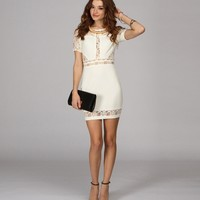 Sale-ivory Lace In The Right Place Dress