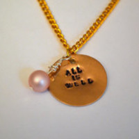 All is Well | hand-stamped necklaces
