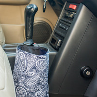 Car trash bag - handmade vehicle organizer, litter bag - auto trash bag can - car accessories, reusable garbage bag