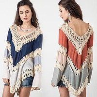 Summer Women Blouses Sexy Lace Crochet Hollow out Blusa Feminina Boho Casual Beach Bikini Cover Up Blouses Shirt Tops