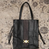 MOON CHILD LEATHER TOTE BAG