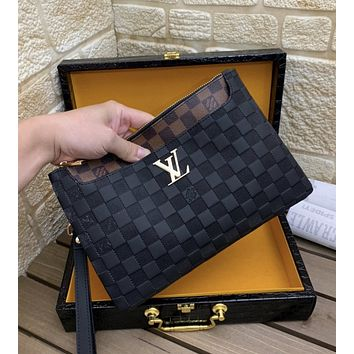 lv woman men envelope clutch bag leather file bag tote handbag 1