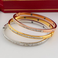 Shiny New Arrival Jewelry Stylish Diamonds Korean Titanium Accessory Gifts Bangle [6411770372]
