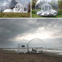 HolleywebTM Inflatable Bubble Tent House Dome Outdoor Clear Show Room with 1 Tun...
